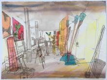 Lizzy Fidler, Atelier Maurizio Rocchi, Tuscania, 2016