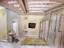 Lizzy Fidler, Kunstprojekt Lazio, Palazzo Riario, Viterbo, 2016